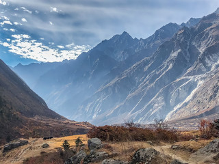 Langtang valley landscape