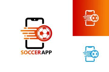 Soccer Application Logo Template Design Vector, Emblem, Design Concept, Creative Symbol, Icon