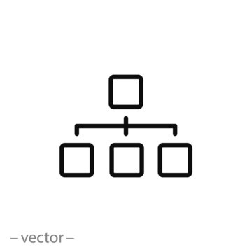 organization chart icon vector