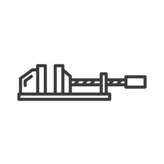 Clamp vector icon in modern flat style isolated. Clamp can support is good for your web design.