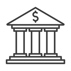 Bank vector icon in modern flat style isolated. Bank can support is good for your web design.
