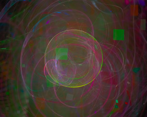 abstract digital fractal, beautiful design, disco, party