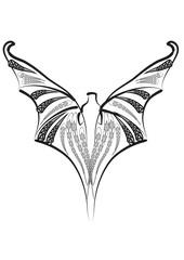 bat silhouette on white