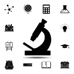 Microscope icon. Simple glyph vector element of education set icons for UI and UX, website or mobile application
