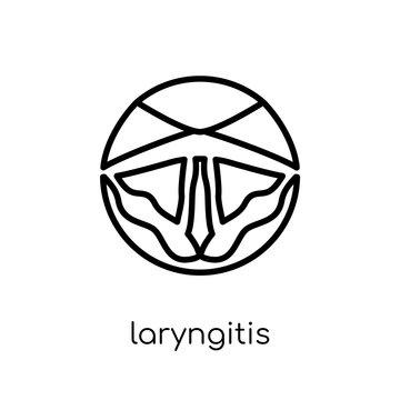 Laryngitis icon. Trendy modern flat linear vector Laryngitis icon on white background from thin line Diseases collection