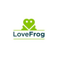 Love frog logo design
