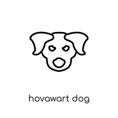 Hovawart dog icon. Trendy modern flat linear vector Hovawart dog icon on white background from thin line dogs collection