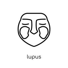 Lupus erythematosus icon. Trendy modern flat linear vector Lupus erythematosus icon on white background from thin line Diseases collection
