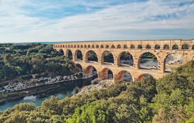 Obraz Roman Aqueduct, Pont du Gard - fototapety do salonu
