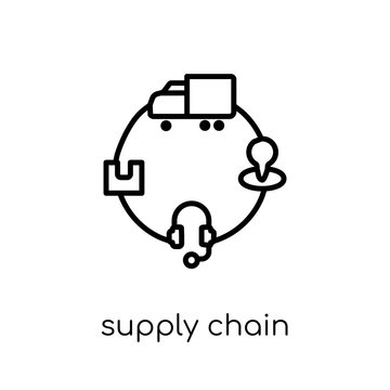 Supply chain icon from Delivery and logistic collection.