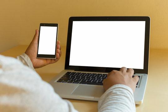 Laptop and mobile mockup design