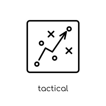 Tactical icon. Trendy modern flat linear vector Tactical icon on white background from thin line Cryptocurrency economy and finance collection