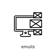 Emails icon from Communication collection.