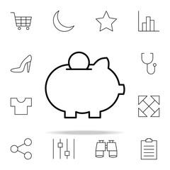 savings icon. Minimal Universal Theme icons universal set for web and mobile
