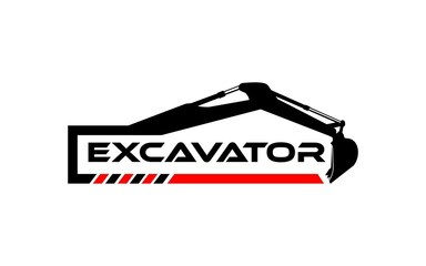 logo excavator design inspiration. can be for logos of real estate, construction, industry and others