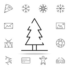Christmas tree icon. christmas icons universal set for web and mobile