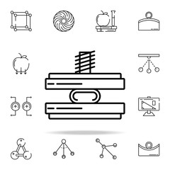 force icon. physics icons universal set for web and mobile
