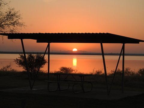 Picnic Sunset on the Lake