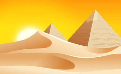 A hot desert landscape