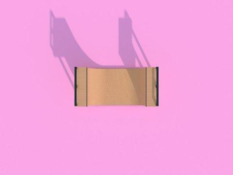 Half-pipe [Top View] - 3D Render