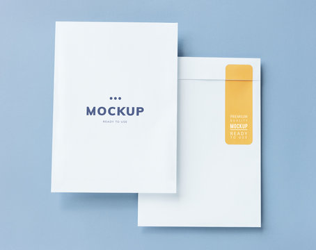 Business document and envelope mockup