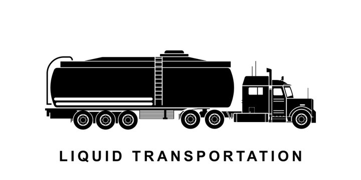 Detailed liquid tanker truck illustration
