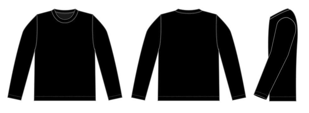 Longsleeve t-shirt illustration (black)