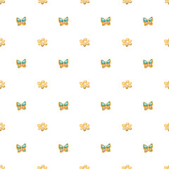 Cute seamless pattern with bows. Simple style vector illustration. Cloth design, wallpaper, wrapping.