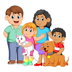 Big family with pets