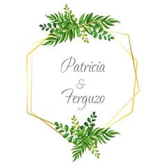 watercolor floral ornament for wedding invitation design