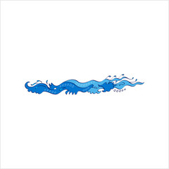 Water Wave Icon, Frequency Dispersion