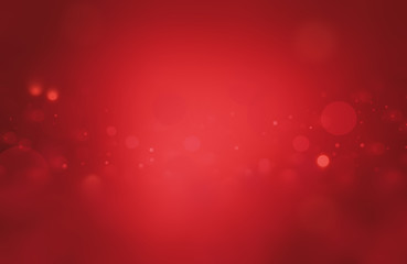 Christmas background red holiday abstract light bokeh and glitter Abstract with red background