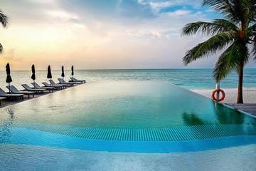 The maldives sea scenery