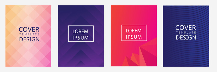 cover, flyer, brochure template design with colorful  abstract background