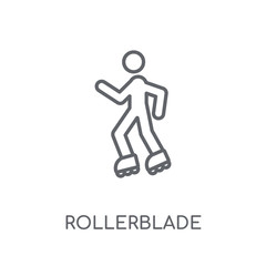 Rollerblade linear icon. Modern outline Rollerblade logo concept on white background from Activity and Hobbies collection