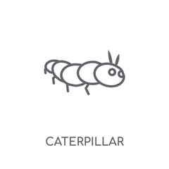 Caterpillar linear icon. Modern outline Caterpillar logo concept on white background from Agriculture Farming and Gardening collection
