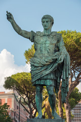 ancient statue of Gaius Julius Caesar in Naples, Italy