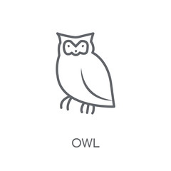 Owl linear icon. Modern outline Owl logo concept on white background from animals collection
