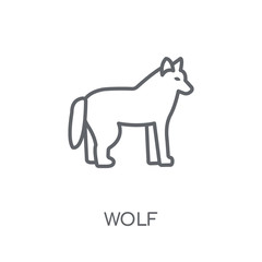 Wolf linear icon. Modern outline Wolf logo concept on white background from animals collection