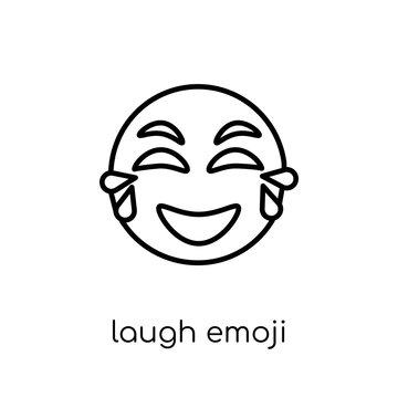 Laugh emoji icon from Emoji collection.