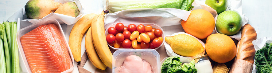Grocery. Different health food.