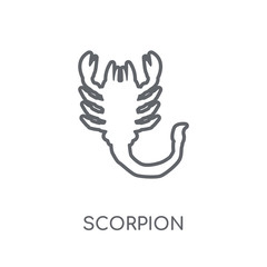 Scorpion linear icon. Modern outline Scorpion logo concept on white background from animals collection