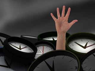 Hand comes from watches