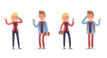 office people working and poses action character vector design no3