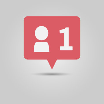 Social media popup notification message new friend