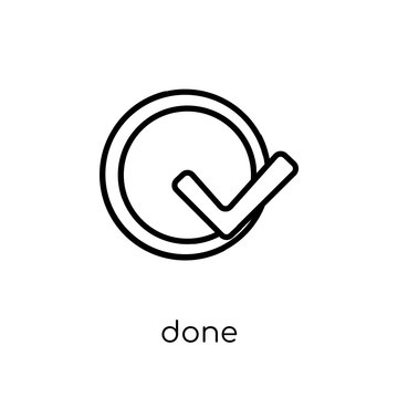 Done icon from Productivity collection.