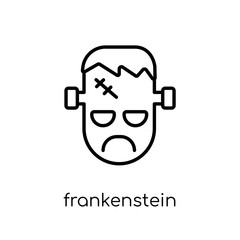 Frankenstein icon. Trendy modern flat linear vector Frankenstein icon on white background from thin line Fairy Tale collection