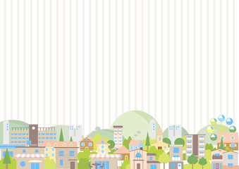 街並み 風景 ストライプ背景