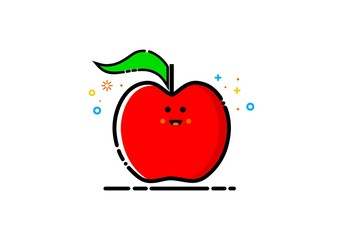 Fruit apple, MBE style logo