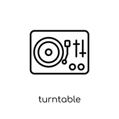 Turntable icon from collection.